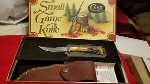 VINTAGE CASE XX SMALL GAME KNIFE 523-3 1/4 SSP IN ORGINAL BOX WITH SHEATH/PAPER