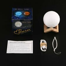 Rechargeable 3D Print Moon Lamp Touch Control LED Night Light Home Decoration K