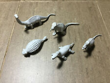 VINTAGE MARX TOYS GRAY BRONTOSAURUS AND 5 OTHERS FANTASY PLAYSET