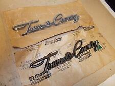 "Mopar NOS Qtr.Panel Nameplates ""Town & Country"" 82-88 Chrysler LeBaron T & C"