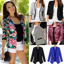 Women's Casual Suit Blazer Business OL Ladies Slim Fit Lapel Jacket Coat Outwear