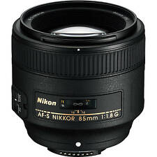 Nikon AF-S NIKKOR 85mm f/1.8G Lens Portrait Lens For Nikon DSLR 2201 W/ Cloth