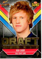 2011 Select AFL Champions Draft Rookie Card DR7: Josh Caddy (Gold Coast)