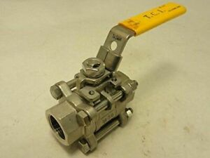 """1/4"""" 316 Stainless Steel Ball Valve 5 Pieces"""