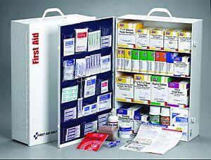 4 Shelf 150 Person OSHA First Aid Station w/20 Pocket