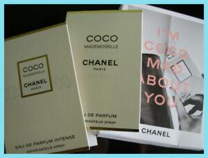Chanel COCO MADEMOISELLE & INTENSE  2 x 1.5ml EDP samples / vials