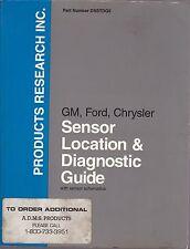 GM FORD CHRYSLER Sensor Location & Diagnostic Guide with Sensor Schematics 1994