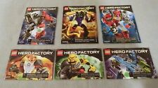 LEGO--HERO FACTORY--Lot of 6 Instruction Manual Only #6218-83-93 6200-17-21