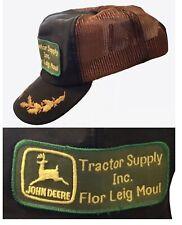Vtg John Deere Tractor Supply Patch Mesh Snapback Trucker Hat Louisville Mfg Usa