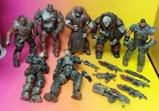 NECA 2006 Gears of War XBOX 360 - 7 Figure lot W/ Weapons Epic Games Inc. Rare