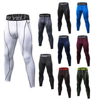Men's Compression Tights Running Jogging Long Pants Gym Athletic Base Layers