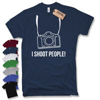 T-Shirt I SHOOT PEOPLE!  Kamera Camera Fotograf SLR fun Funshirt Gr S M L XL XXL