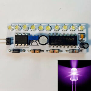 NE555+CD4017 modulo sequenziale a 10 LED VIOLA UV 3mm regolabile ITALIA arduino