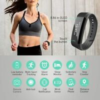 Waterproof Sport Pedometer Sleep Fitness Tracker Smart Watch Bracelet Wrist Band