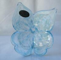 Italian Butterfly Flower Blown Glass Blue Italy Murano No 763