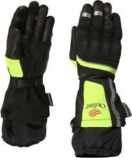 Weise Strada Outlast Black Neon Leather Textile Waterproof Motorcycle Gloves