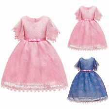 Kids Baby Flower Girls Party Lace Dress Princess Wedding Bridesmaid Snow Dresses