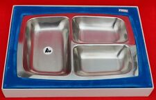 VINTAGE VINERS STAINLESS STEEL THREE DIVISION VEGETABLE DISH - BOXED!