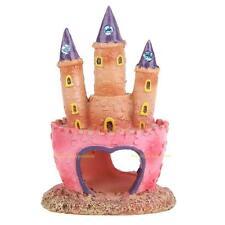 #QZO Resin Cartoon Castle Aquariums Decorations Castle Tower Ornaments Fish Tank
