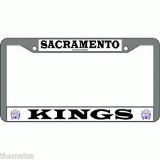SACREMENTO KINGS TEAM LOGO NBA BASKETBALL CHROME LICENSE PLATE FRAME MADE IN USA