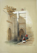 David Roberts 1849 H/C 1st Folio THE NILOMETER ON ISLAND OF RHODA EGYPT