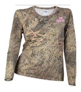 Mossy Oak Brush Camo Tee Shirt Ladies Med C-4