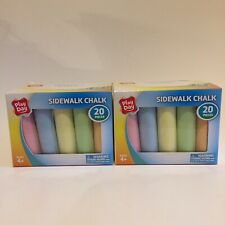 Sidewalk Chalk Lot Of 2 Boxes 40 Piece 6 colors Factory Sealed by Play Day New