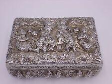 Attractive antique Burmese silver case / box  20th C.  310 g  RAR