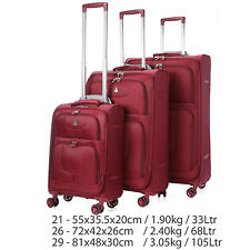 CHEAP CLEARANCE Aerolite Lightweight 4 Wheel Suitcase Hand Cabin Large Luggage