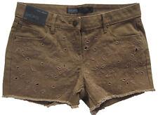 New Womens Brown NEXT Denim Shorts Size 14 12 10 RRP £25