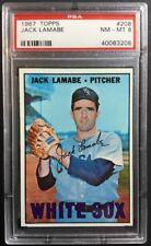 1967 Topps Jack Lamabe #208 PSA 8