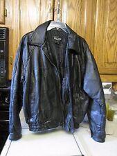 Milan Leather Jacket Size Large Men Black EUC