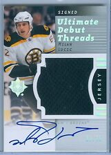 MILAN LUCIC 2007-08 ULTIMATE DEBUT THREADS RC ROOKIE JERSEY AUTO AUTOGRAPH SP/35