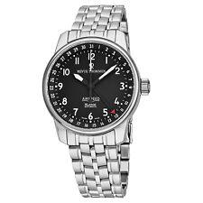 Revue Thommen Men's Air Speed Black Dial Steel Date Automatic Watch 16050.2137