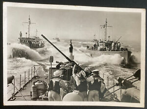 1940 Feldpost Germany RPPC Real Picture Postcard Cover Clearance boats