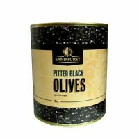 3kg Sandhurst Pitted Spanish Black Olives-100% Spanish Olives-Quick Post