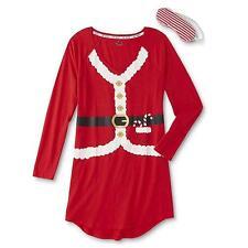 BNWTS Joe Boxer Women's Christmas Nightshirt & Sleep Mask SMALL