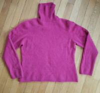 LUXURIOUS CHARTER CLUB 100% 2 PLY  CASHMERE EXTRA PLUSH Rose Purple  Sweater