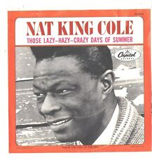 NAT KING COLE--PICTURE SLEEVE+45--(LAZY HAZT CRAZY DAYS OF SUMMER)--PS--PIC--SLV