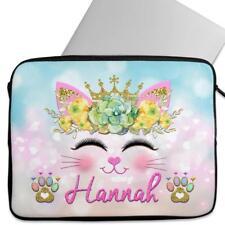 Personalised Laptop Cover KITTEN Sleeve Cat Princess Universal Case Gift KS110