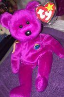 Ty Beanie Baby 2000 Y2K Millennium Bear W/ Tag Protector Rare