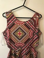 AZTEC PRINT SUMMER DRESS size 12