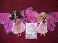 Barbie Mattel Fairytopia Mariposa Fairy Butterfly Wing Doll lot with DVD