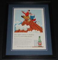 1959 7 Seven Up with Vodka 11x14 Framed ORIGINAL Vintage Advertisement