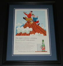 1959 7 Seven Up with Vodka 11x14 Framed ORIGINAL Vintage Advertisement