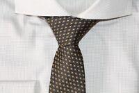HUGO BOSS TAILORED KRAWATTE, 100% Seide, Hand Made in Italy, Gold