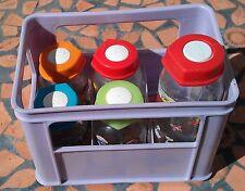 AUFBEWAHRUNGS-BOX incl. 5 Baby-Fläschchen mit lustigen Motiven