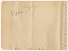 Veda Ann Borg & Shirley Dean signed autographed album page! Guaranteed Authentic