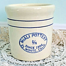 Vintage Miali Pottery Stoneware Crock Small 1/8 California
