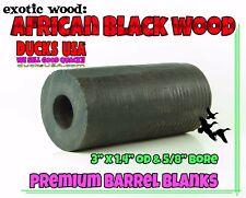 "Duck Call Barrel Exotic African Blackwood 3"" Barrel Blank with 5/8"" Bore"